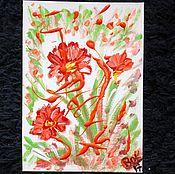 Картины и панно handmade. Livemaster - original item Red colors.. Handmade.