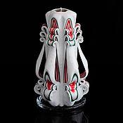 Свечи ручной работы. Ярмарка Мастеров - ручная работа Резная свеча 267. Handmade.