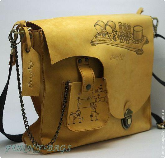 """Мужские сумки ручной работы. Ярмарка Мастеров - ручная работа. Купить Мужская кожаная сумка """" Loftin-White"""". Handmade."""