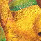 """Аксессуары ручной работы. Ярмарка Мастеров - ручная работа Шерстяной валяный эко палантин (шарф) """"Золотая осень"""" мягкий и тёплый. Handmade."""