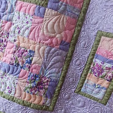Для дома и интерьера ручной работы. Ярмарка Мастеров - ручная работа Лоскутный комплект Дыхание весны. Одеяло-покрывало и наволочки. Handmade.