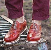 Обувь ручной работы handmade. Livemaster - original item Copy of Copy of Boots moccasin leather with uneven edge Dark. Handmade.