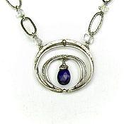 Украшения handmade. Livemaster - original item Violets and Ice necklace with amethyst purple choker rhinestone. Handmade.