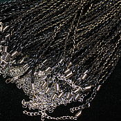 Материалы для творчества handmade. Livemaster - original item Cord pendant with lock woven black, 60 cm. Handmade.