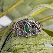Украшения handmade. Livemaster - original item Gold ring with emerald