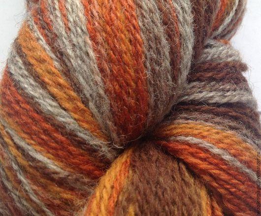 Вязание ручной работы. Ярмарка Мастеров - ручная работа. Купить КАУНИ Grey-orange 8/1 -  8/2. Handmade. Разноцветный