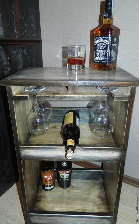 Мебель ручной работы. Ярмарка Мастеров - ручная работа. Купить Мини-бар. Handmade. Серый, морилка на водной основе