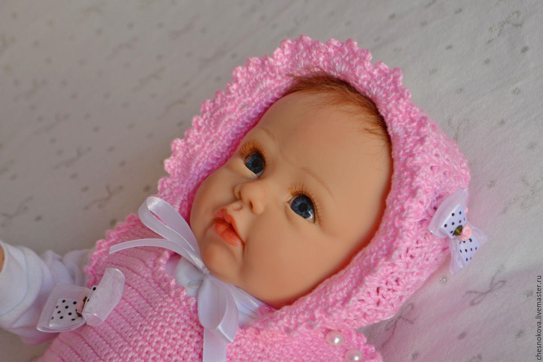 шапочка для девочки.Шапочка вязанная.Чепчик вязанный.Чепчик на выписку.Шапочка детская. Для новорожденной. На выписку.Шапочкам для фотосессиии