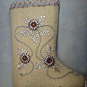 Обувь ручной работы. Ярмарка Мастеров - ручная работа Валенки с дизайнерской отделкой. Handmade.