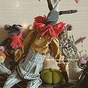 Декор в стиле Тильда ручной работы. Ярмарка Мастеров - ручная работа Заяц интерьерная игрушка ручной работы. Handmade.