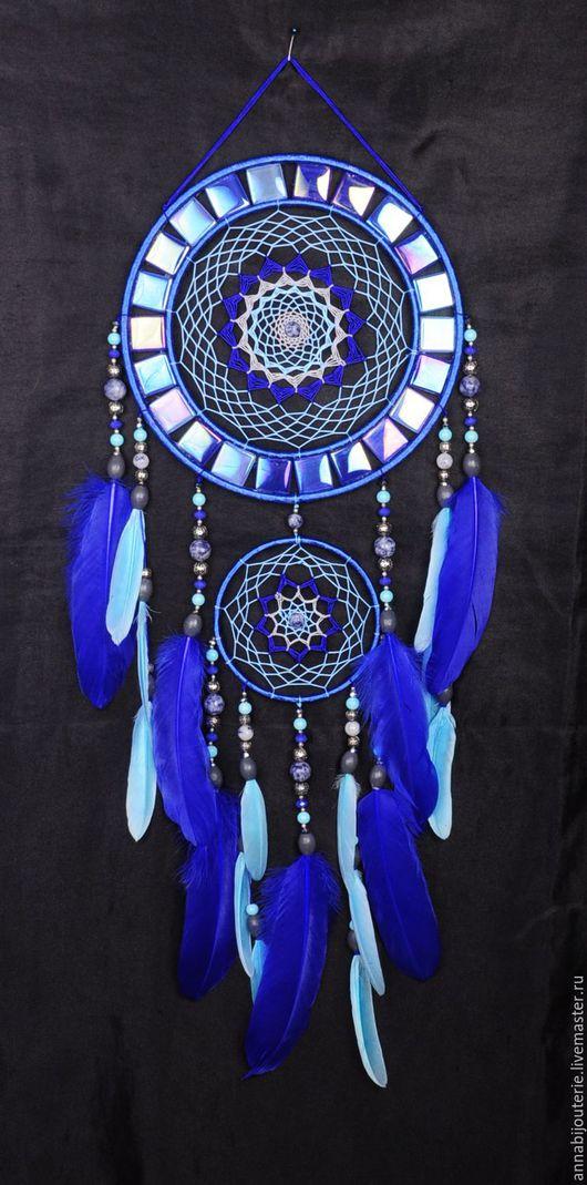 Ловцы снов ручной работы. Ярмарка Мастеров - ручная работа. Купить Dreamcatcher Blue mosaic Dream Catcher Large Dreamcatcher New Dream сa. Handmade.