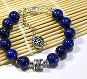 Украшения handmade. Livemaster - original item Bracelet Amulet lapis Lazuli Afghanistan for Luck Success and prosperity. Handmade.