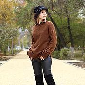 Одежда ручной работы. Ярмарка Мастеров - ручная работа Простой вязаный свитер с высоким воротником. Handmade.