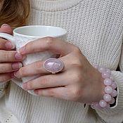 Украшения handmade. Livemaster - original item Silver ring with rose quartz. Handmade.