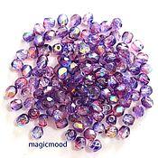 Материалы для творчества handmade. Livemaster - original item 25 PCs 4mm Beads K4311 Fire Polished Czech glass beads. Handmade.