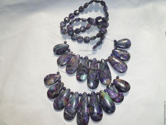 Наборы из варисцит фиолетового  800 р за каждый набор из 9 кабошонов. бусины-таблетки из варисцита 30 р1 шт,