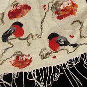 """Аксессуары ручной работы. Ярмарка Мастеров - ручная работа """"Рябиновый десерт"""" - шарф валяный женский. Handmade."""