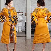 Одежда ручной работы. Ярмарка Мастеров - ручная работа Вышиванка Украинское платье Вышитое льняное платье Бохо платье. Handmade.