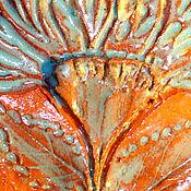Подвеска ручной работы. Ярмарка Мастеров - ручная работа Керамические кулоны Фантазийные цветы. Handmade.