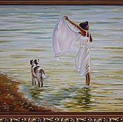 Картины и панно ручной работы. Ярмарка Мастеров - ручная работа На море. Handmade.