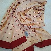 Винтаж handmade. Livemaster - original item Silk patterned scarf, vintage Europe. Handmade.