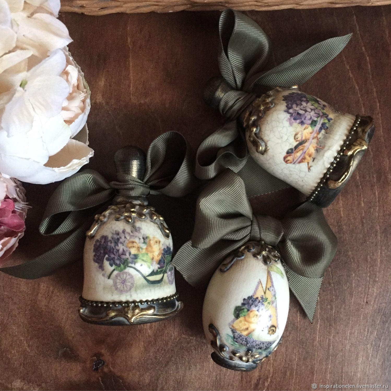 Яйцо деревянное колокольчик деревянный «Пасха» набор пасхальный, Яйца, Краснодар,  Фото №1