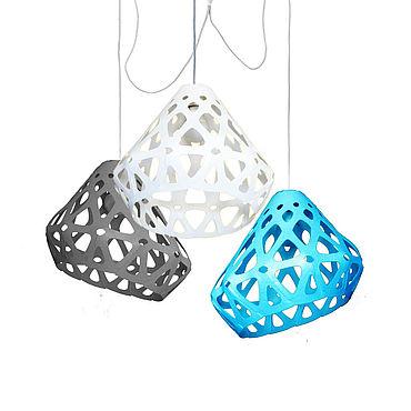 Освещение ручной работы. Ярмарка Мастеров - ручная работа ZAHA LIGHT трехцветная трехрожковая люстра 41. Handmade.