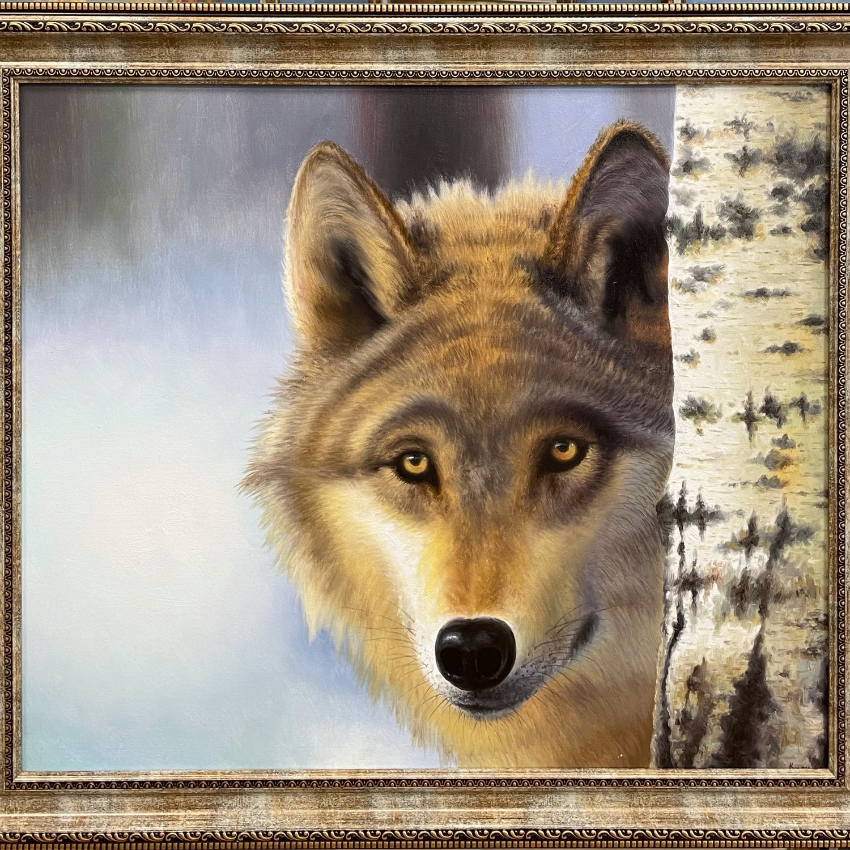 Картина : «Волк» 60х70, Картины, Москва,  Фото №1