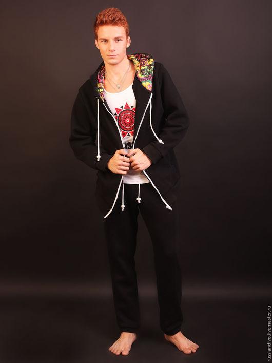 Спортивная одежда ручной работы. Ярмарка Мастеров - ручная работа. Купить Спортивные брюки Панаш мужские. Handmade. Черный