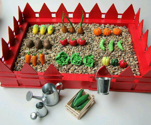 Развивающие игрушки ручной работы. Ярмарка Мастеров - ручная работа. Купить Сенсорный огород большой. Handmade. Полимерная глина, овощи
