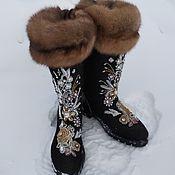 Обувь ручной работы handmade. Livemaster - original item boots: Valenki boots embroidered