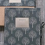 Канцелярские товары handmade. Livemaster - original item Album for herbarium Graphite garden (A4, 30 plants). Handmade.