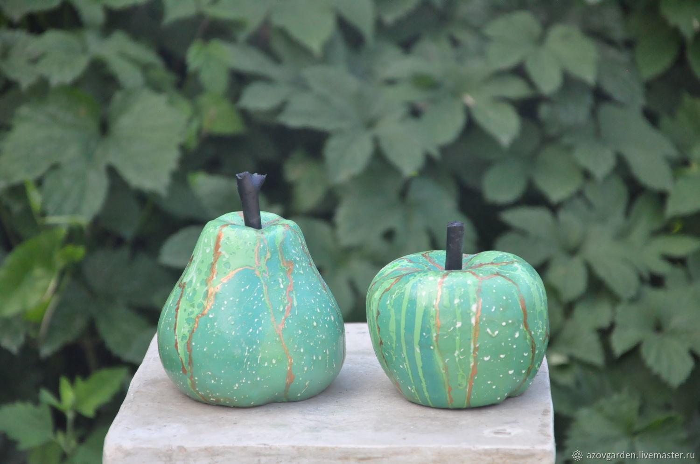Apple and Pear figurines art Deco loft fluid art, Figurines, Azov,  Фото №1