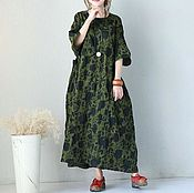 Одежда handmade. Livemaster - original item Dark green plus size long dress. Handmade.