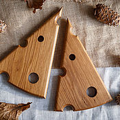 Cutting Boards handmade. Livemaster - original item Oak cheese serving Board. Handmade.