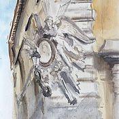 """Картины и панно ручной работы. Ярмарка Мастеров - ручная работа """"Улицы Флоренции"""", акварель. Handmade."""