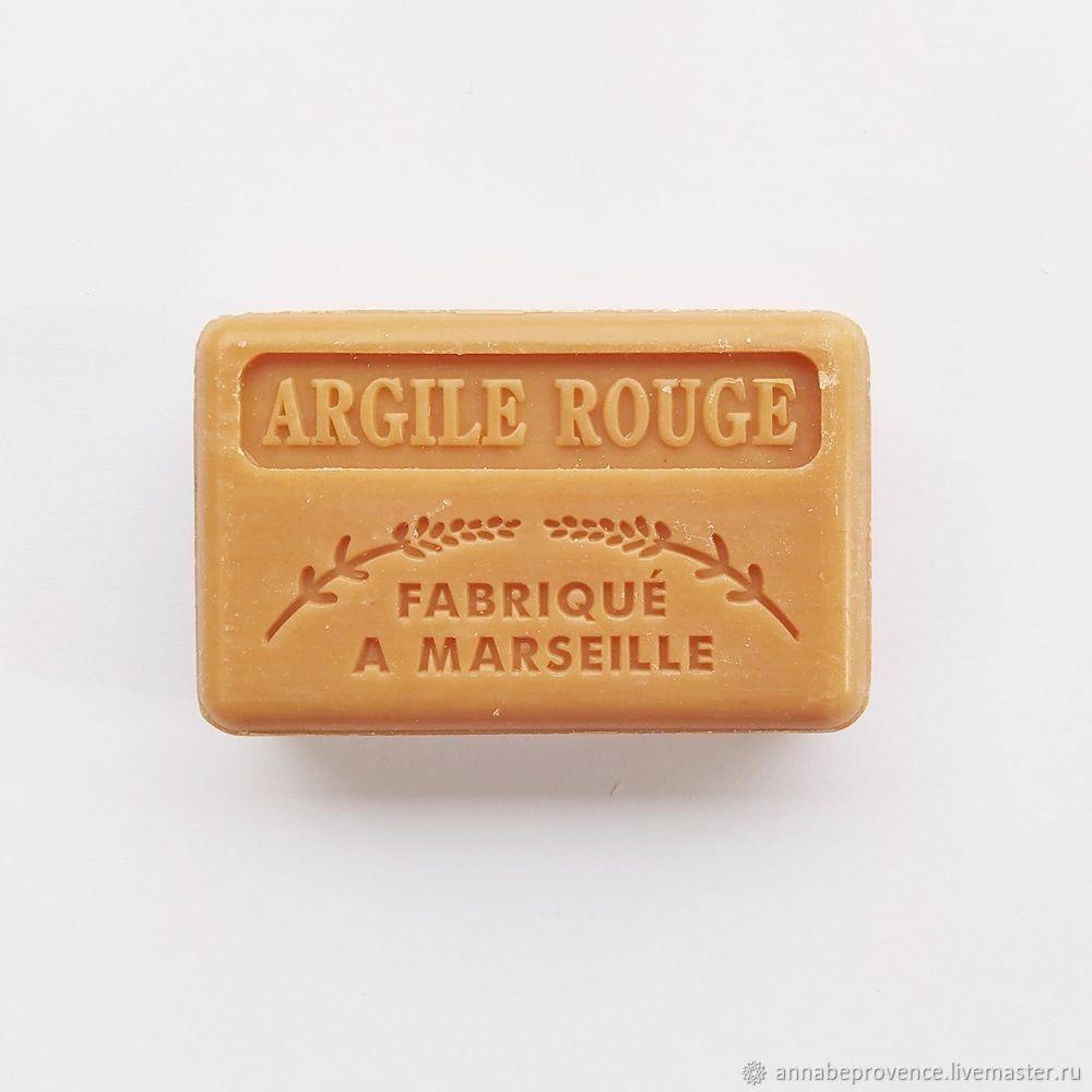 Натуральное марсельское мыло с красной глиной, Мыло, Экс-ан-Прованс,  Фото №1