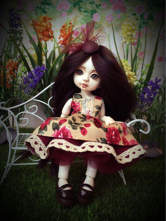 Коллекционные куклы ручной работы. Ярмарка Мастеров - ручная работа. Купить Катенька. Handmade. Авторская шарнирная кукла, шерсть 100%
