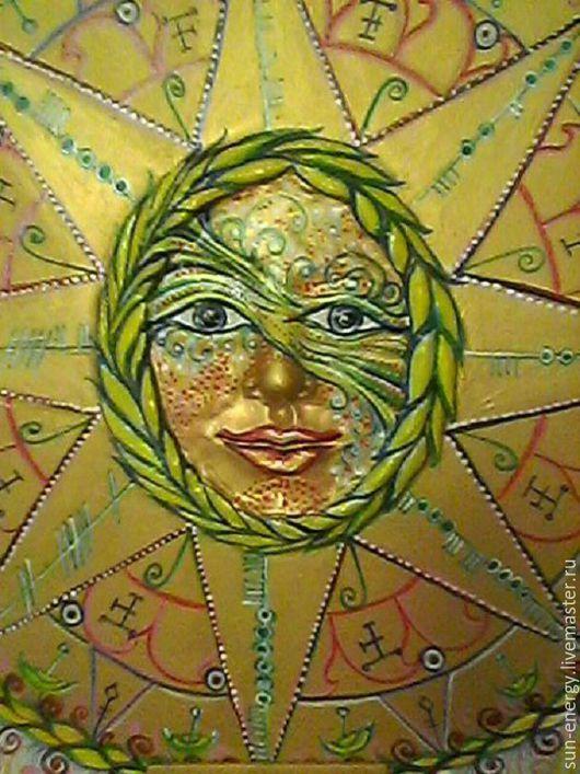 Солнце с вязаными рунами