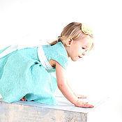 Работы для детей, ручной работы. Ярмарка Мастеров - ручная работа Детское нежно-бирюзовое войлочное платье. Handmade.