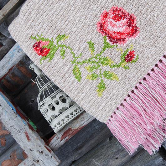 """Текстиль, ковры ручной работы. Ярмарка Мастеров - ручная работа. Купить Коврик в стиле шебби шик """"Розы"""". Handmade. Коврик"""
