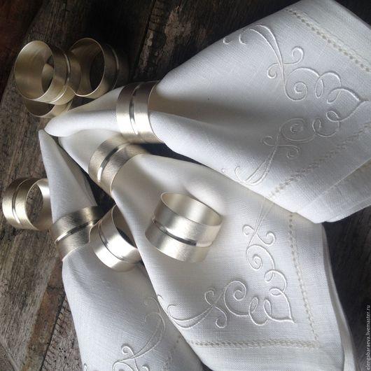 Текстиль, ковры ручной работы. Ярмарка Мастеров - ручная работа. Купить Кольца для салфеток - Лаконичность ( комплект 9 штук). Handmade.