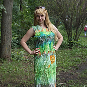 Одежда ручной работы. Ярмарка Мастеров - ручная работа Валяное платье Лесная полянка. Handmade.