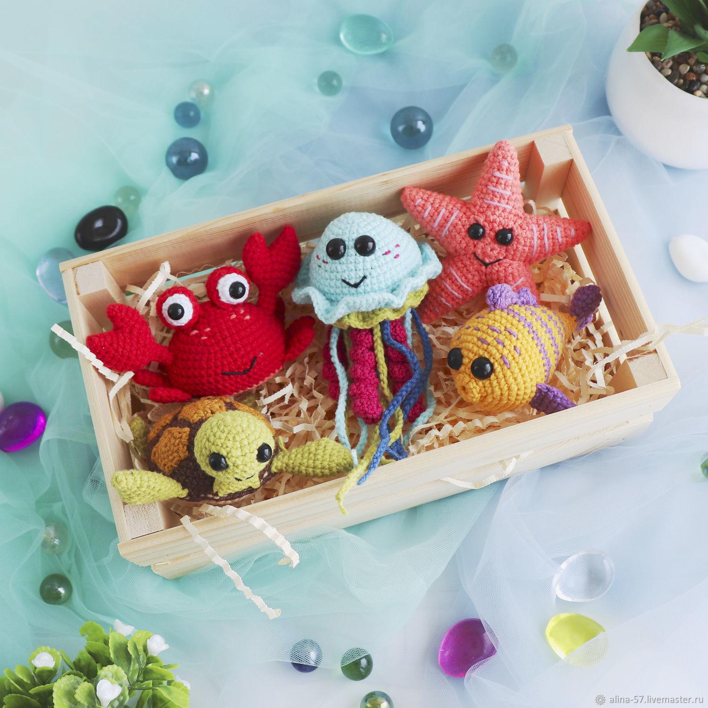 Развивающие мягкие игрушки Морские животные, Мягкие игрушки, Азов,  Фото №1