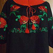 Одежда handmade. Livemaster - original item Women`s embroidered shirt