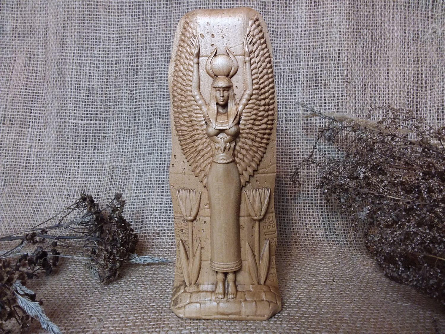 Isis, Isis, ancient Egyptian goddess, wooden figurine, Figurines, Moscow,  Фото №1