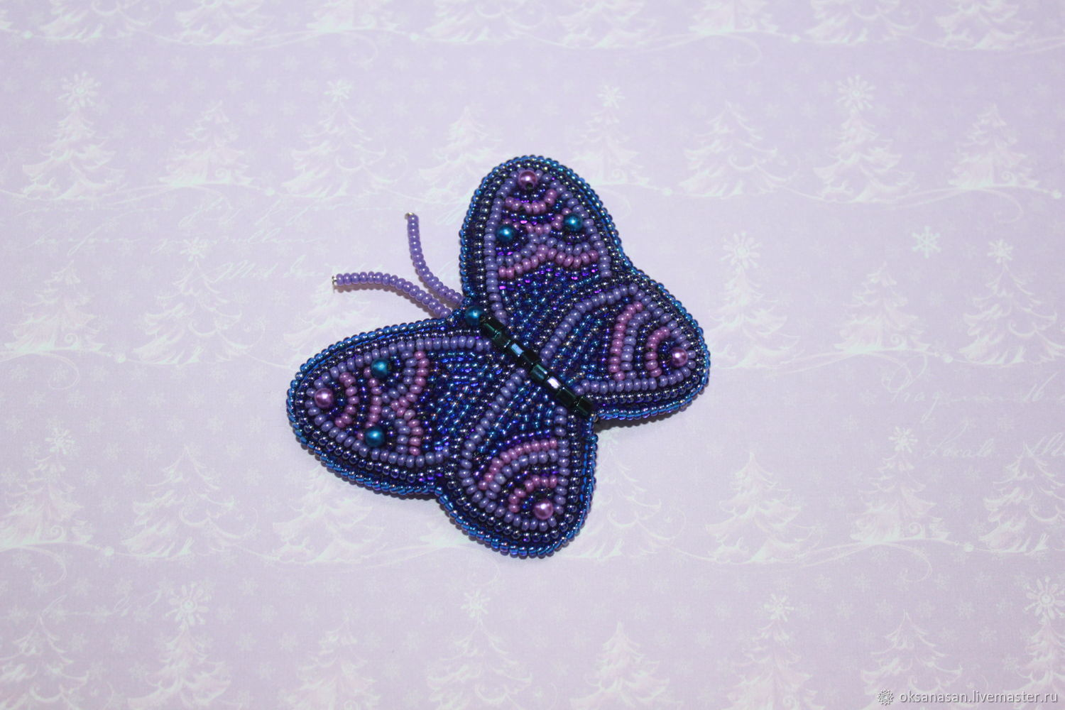 A beaded brooch Butterfly, Brooches, Moscow,  Фото №1