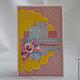 Открытки на день рождения ручной работы. Ярмарка Мастеров - ручная работа. Купить Желто-розово-голубая открытка. Handmade.