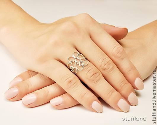 серебряное кольцо «Страдивари»