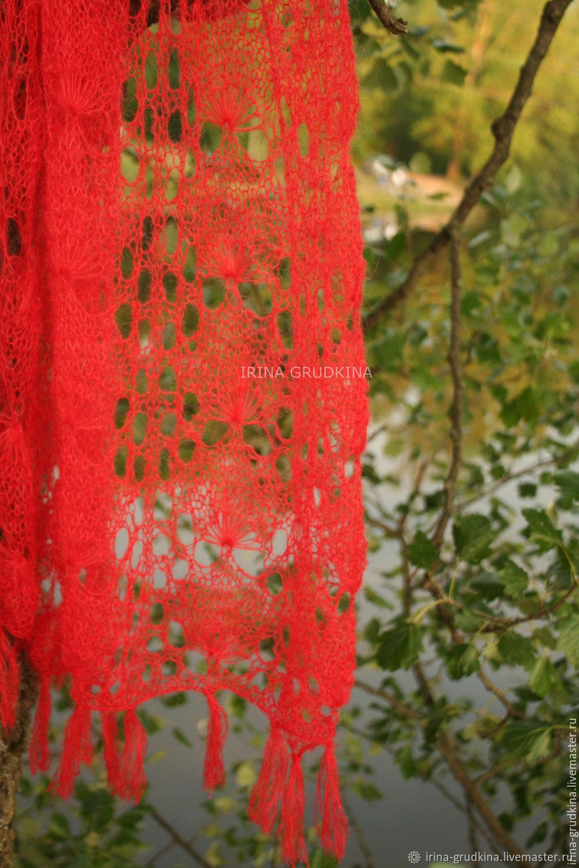 """Red scarf """"Blow"""", Scarves, St. Petersburg,  Фото №1"""